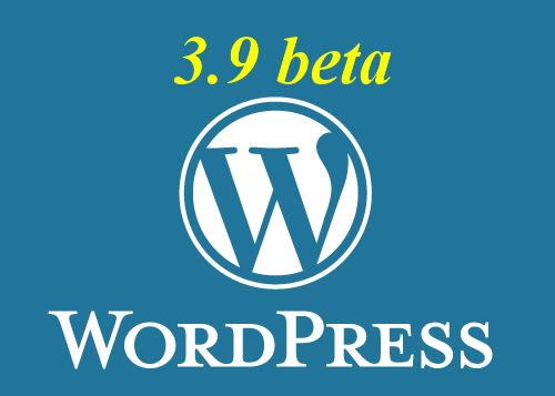 wordpress beta 3.9 logo
