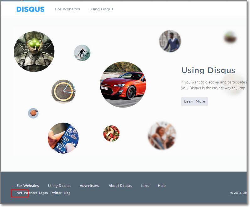 disqus.com-api-resistration