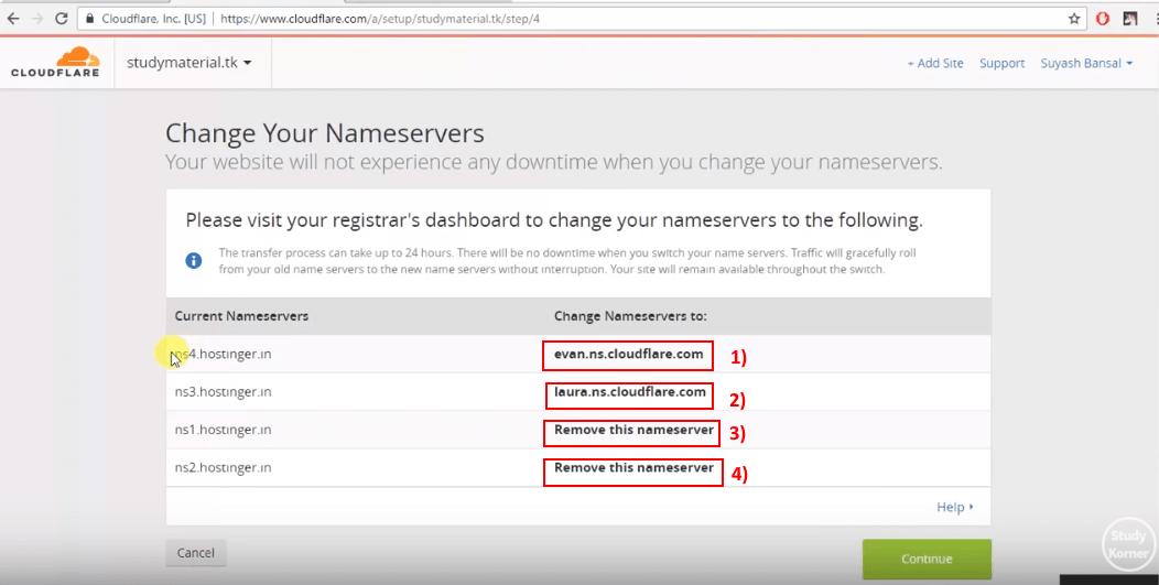cloudflare_change_nameserver