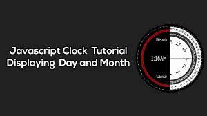 날자까지 표시되는 웹페이지 용 디지털 시계-Javascript