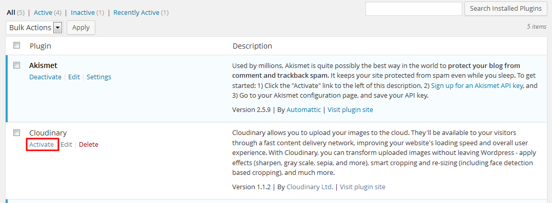 activate-cloudinary