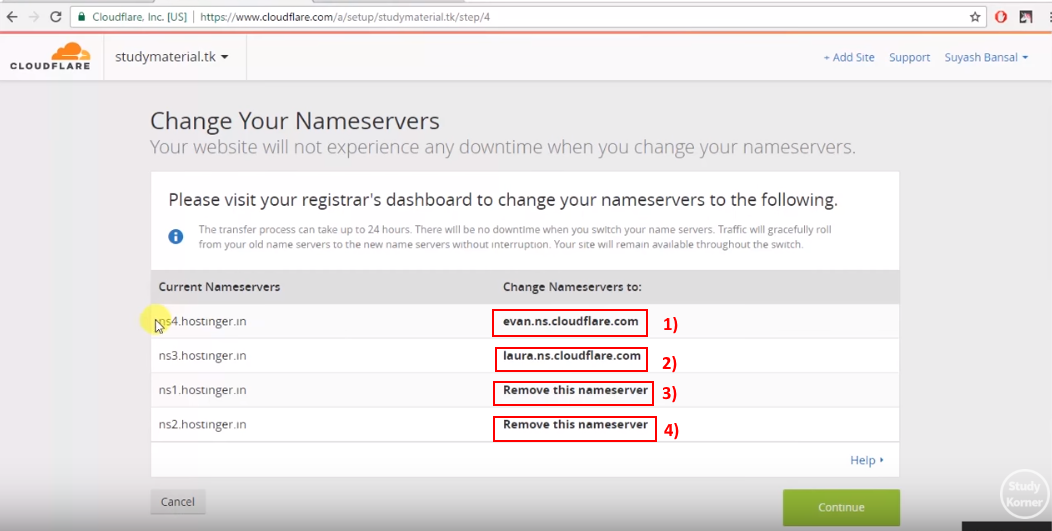 cloudflare_change_nameserver