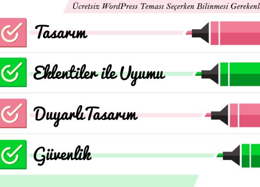 ücretsiz wordpress teması seçimi