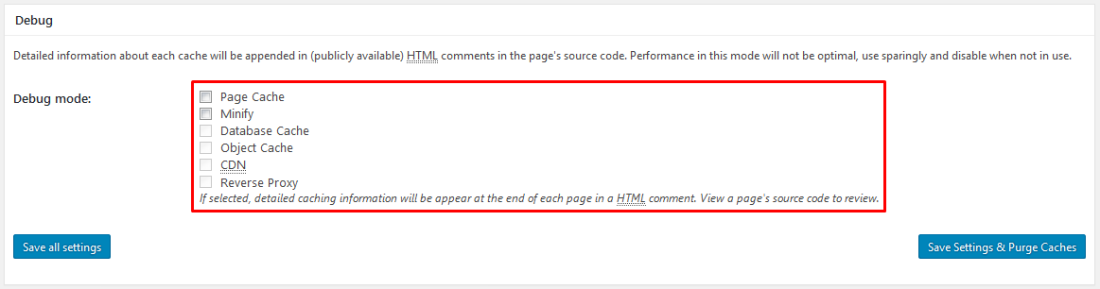 w3 total cache debug