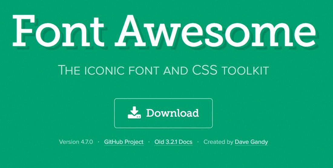 fontawesome yazı fontları