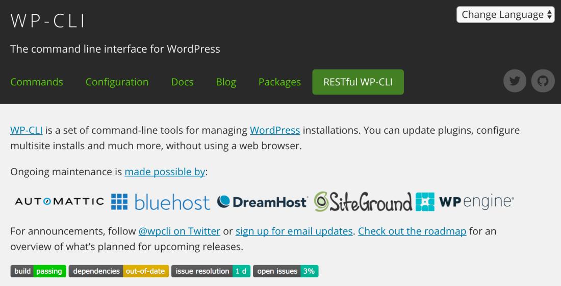 wordpress wp cli