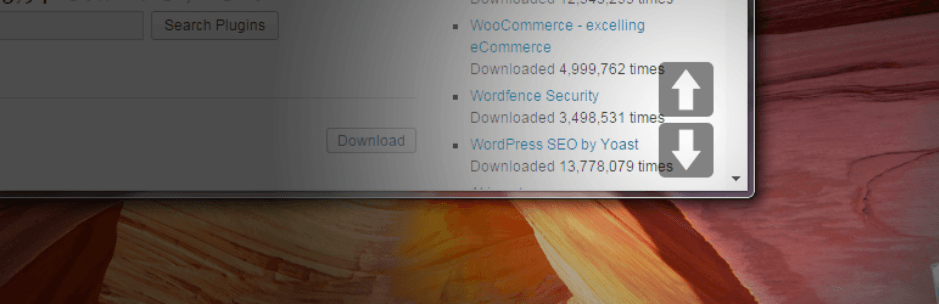 wordpress eklentisi smooth page scroll updown buttons