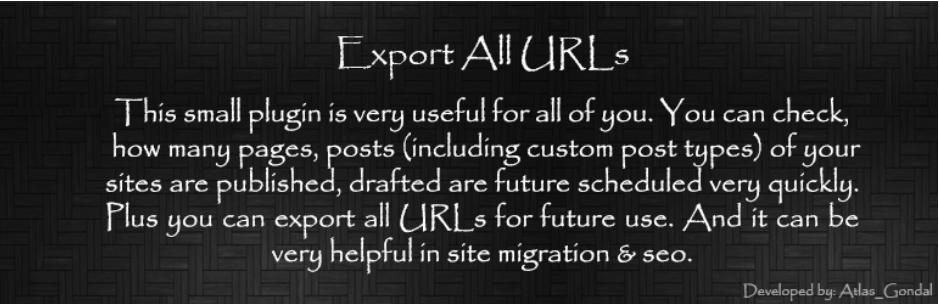 wordpress eklentisi export all urls