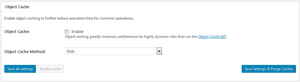 w3 total cache object cache