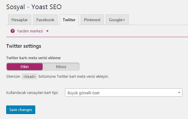 yoast seo sosyal twitter ayarlari
