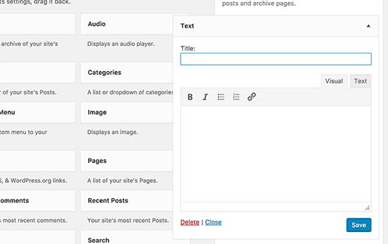 yazı widget
