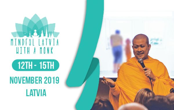Monk John will visit Latvia to teach meditation and mindfulness