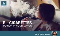 E-cigarettes: Poison in your lungs.