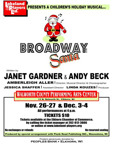 Poster for Broadway Santa