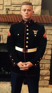 Ryan Metz in Marine uniform