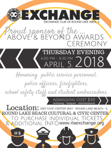 Above and Beyond Awards Banquet Flyer April 5, 2018