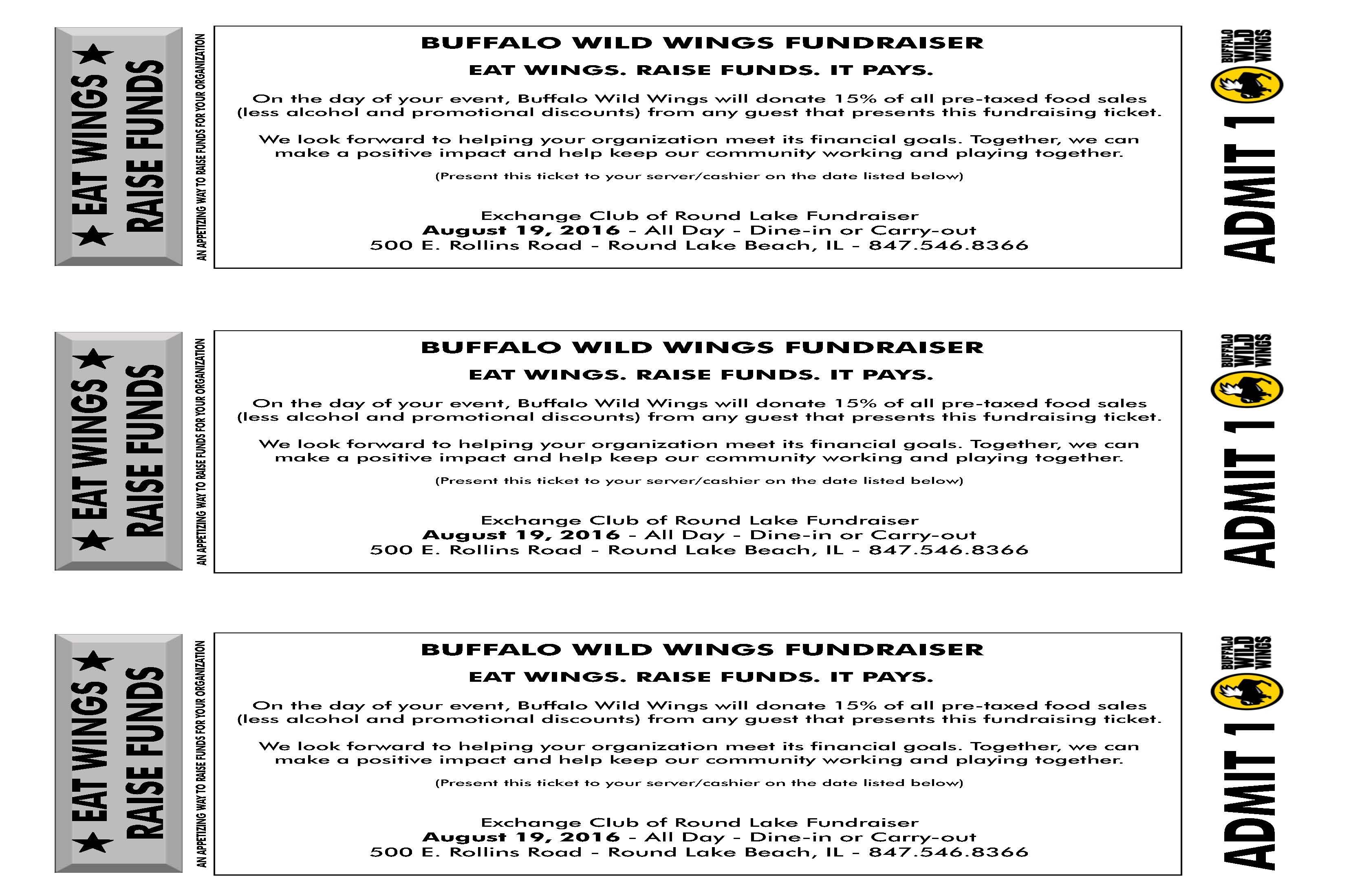 RLA Exchange Club Buffalo Wild Wings Fundraiser – August 19 | Round ...