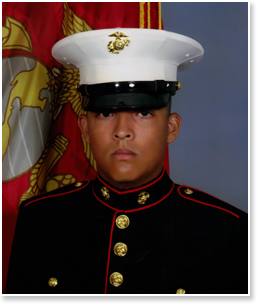 US Marine Private Luis Huaracha