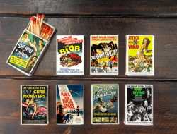 set of 8 MATCHBOX vintage classic B movies poster monster | Etsy