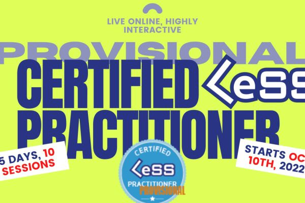 Provisional Certified Large-Scale Scrum (LeSS) Practitioner - Online