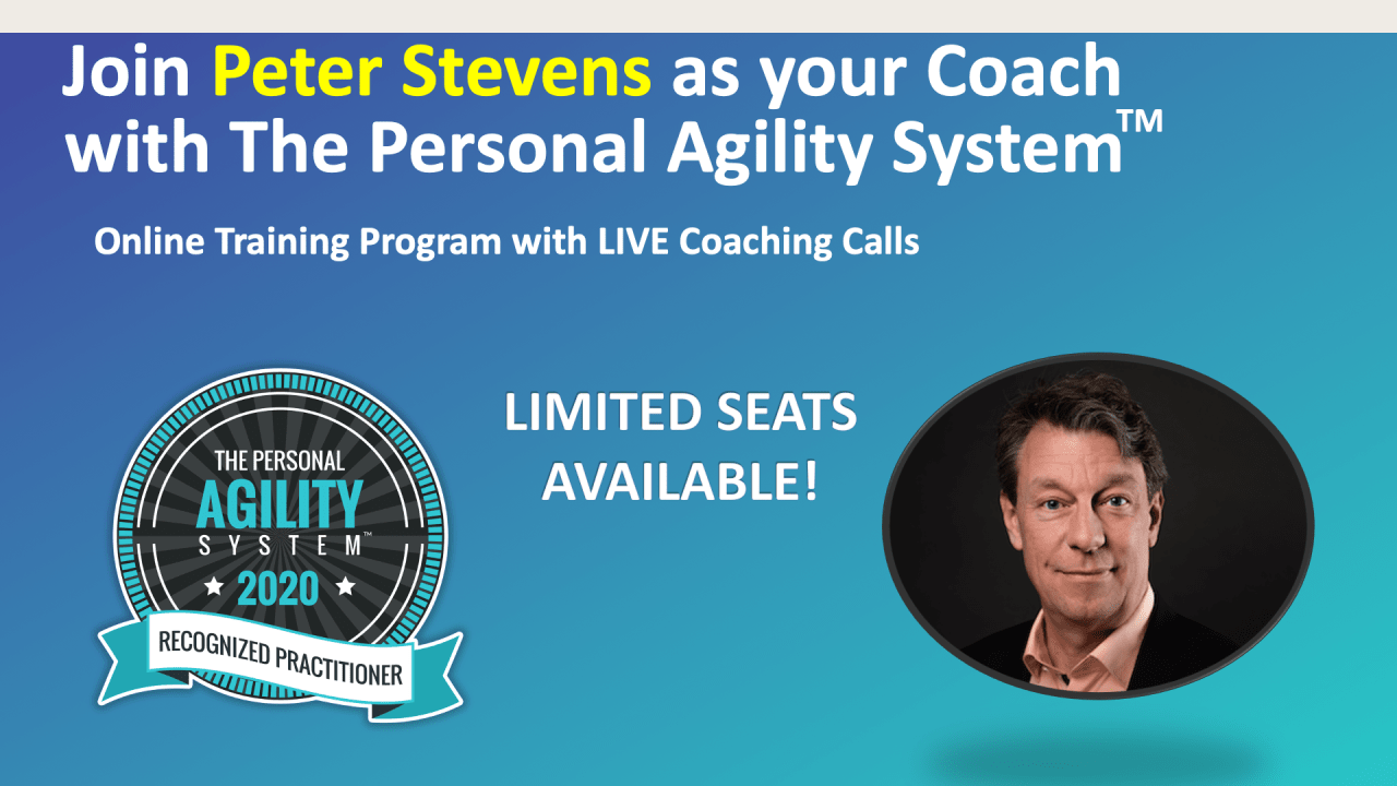 Personal Agility System Online Workshop (Americas, Europe and Africa)