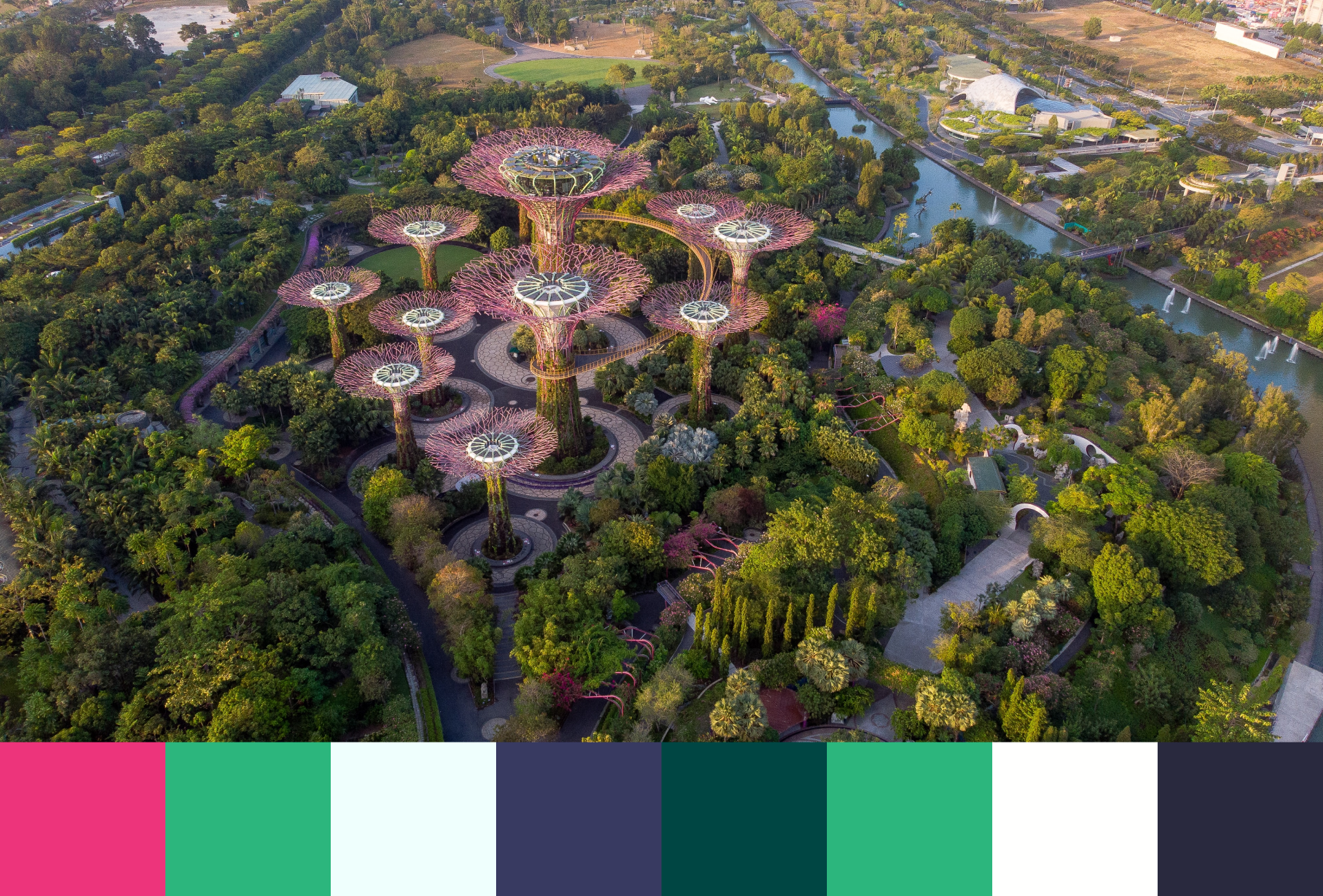 garden by the bay color swatch