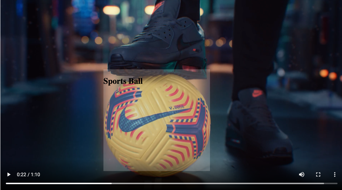 object recognition highlighted football in a video