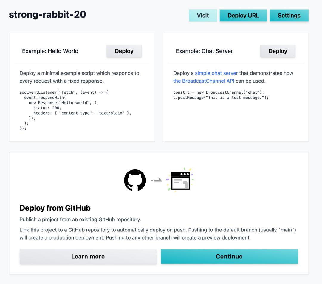 Deno Deploy project dashboard