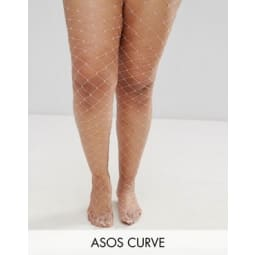ASOS CURVE - Extrem grobmaschige Netzstrumpfhose in Rosa - Rosa