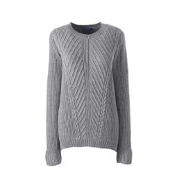 Leichter Strukturstrick-Pullover  in Normalgröße