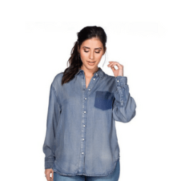 Bühne frei für Jeansblusen und –kleider