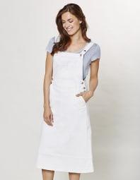 Jeans-Latzrock Katina, Weiß