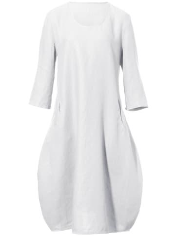 Modisches Leinen-Kleid 3/4-Arm Anna Aura weiss