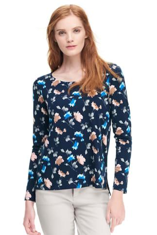 Shirt aus Baumwoll/Modalmix Floralprint