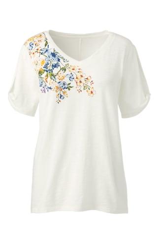 Cut out-Shirt Floral