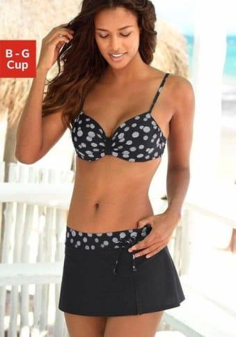 LASCANA Bügel-Bikini schwarz-weiß 36E