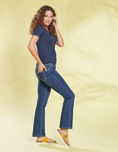Bootcut-Jeans Dena, blau