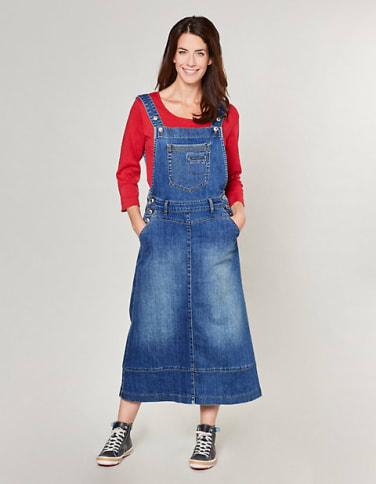 Jeans-Latzrock Katina, blau