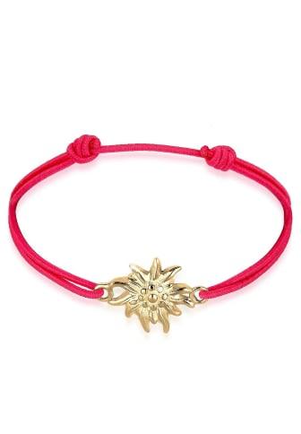 Elli Armband »WIESN TRACHT Edelweiss vergoldet«