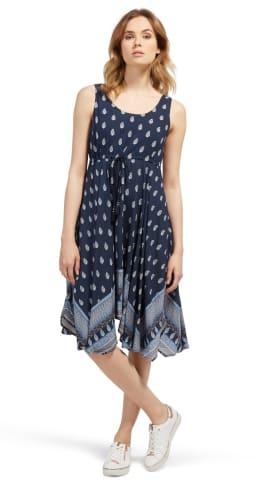 TOM TAILOR Kleid »gemustertes Kleid mit Bindeband«