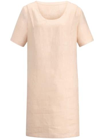 Kleid 1/2-Arm in reinem Leinen Anna Aura beige