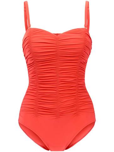 Badeanzug in Bandeaux-Form Anita orange