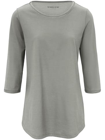 Long-Shirt 3/4-Arm Green Cotton grün