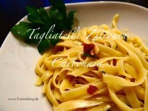Tagliatelle Zitronen Carbonara Franzis Blog Wundercurves