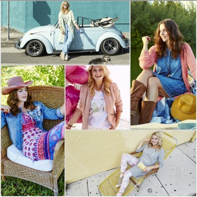 sheego Patstel Passion und Hippie Glam Plus-Size-Trends Frühling/Sommer 2016