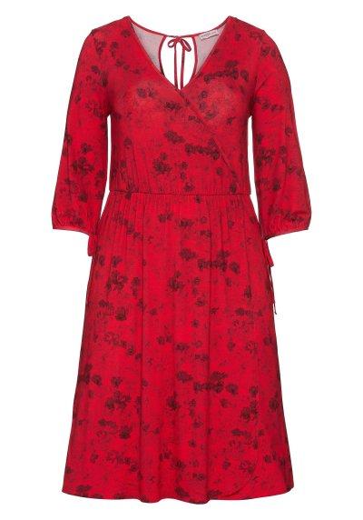 Kleid mit Alooverdruck