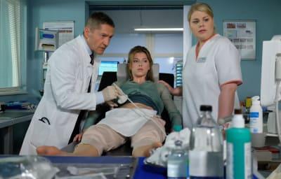 Christina in ihrer Rolle als Krankenschwester Miriam