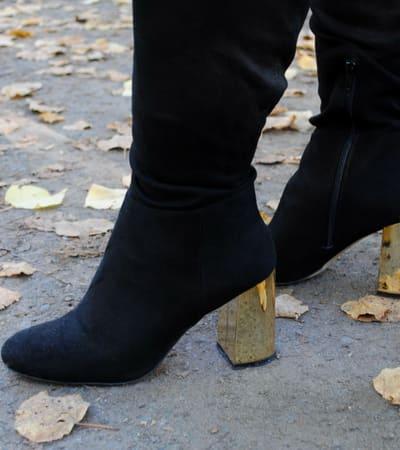 Overknee Stiefel für breite Waden