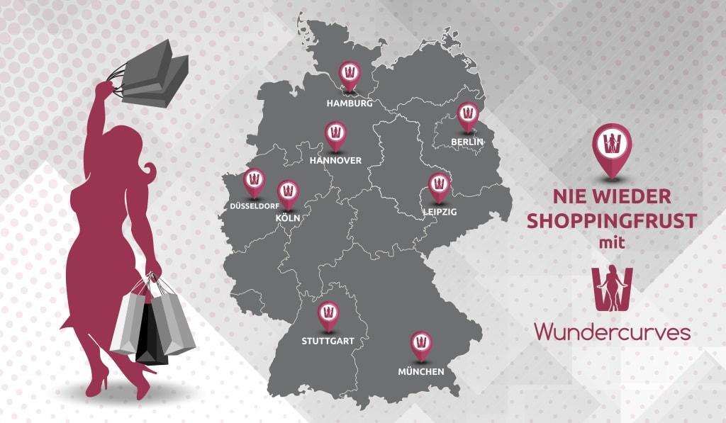 6a9fccf3dfcdc Wundercurves Storefinder große Größen: Shops in Deutschland