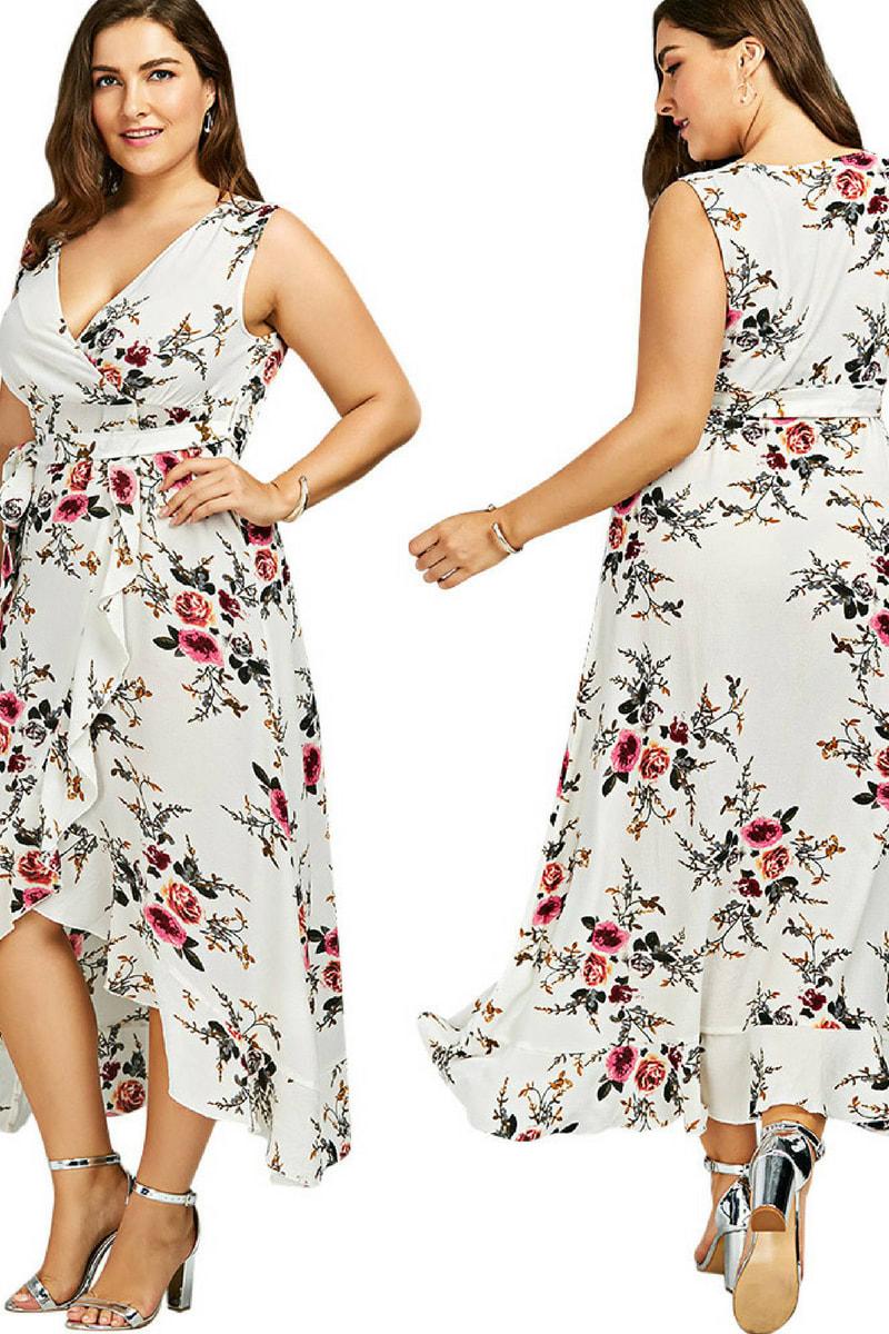 Blumen-Kleid von Rosegal